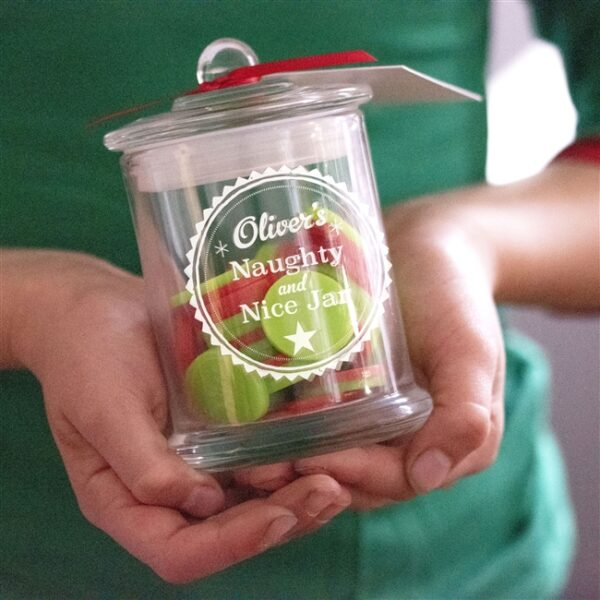 Personalised sweets jar - GiftSpider.co.uk