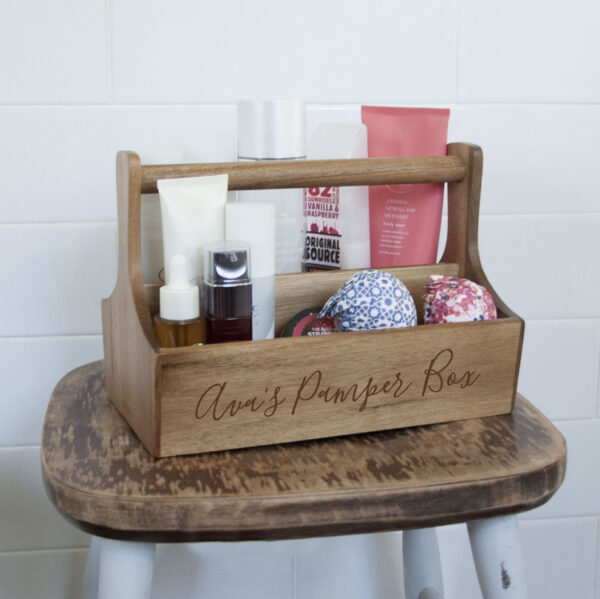 Personalised Spa Caddy from GiftSpider.co.uk