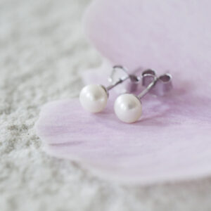 Sterling Silver Freshwater Pearl Stud Earrings - GiftSpider.co.uk