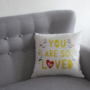 Personalised 'You Are So Loved' Cushion from GiftSpider