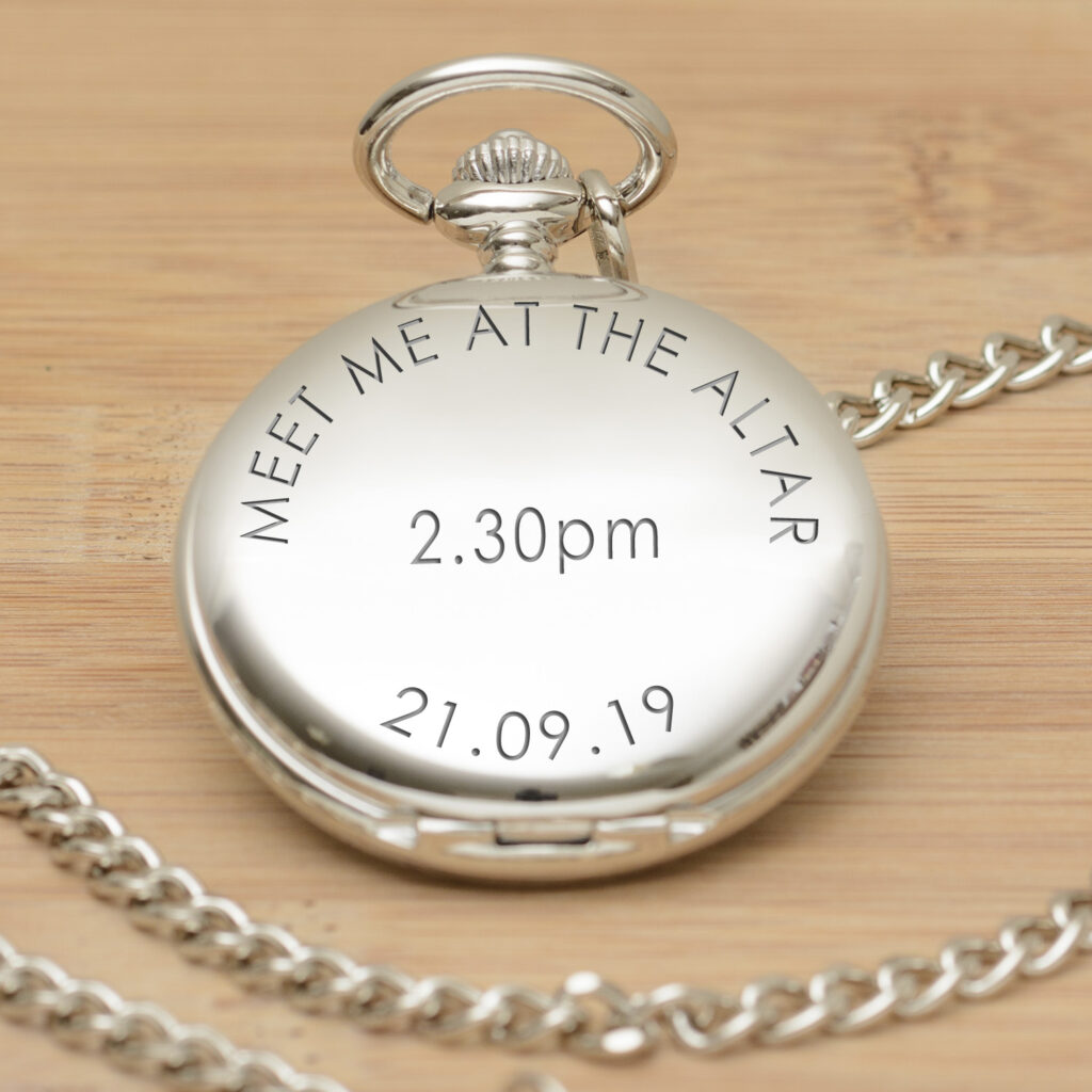 Personalised Pocket Watches from GiftSpider.co.uk