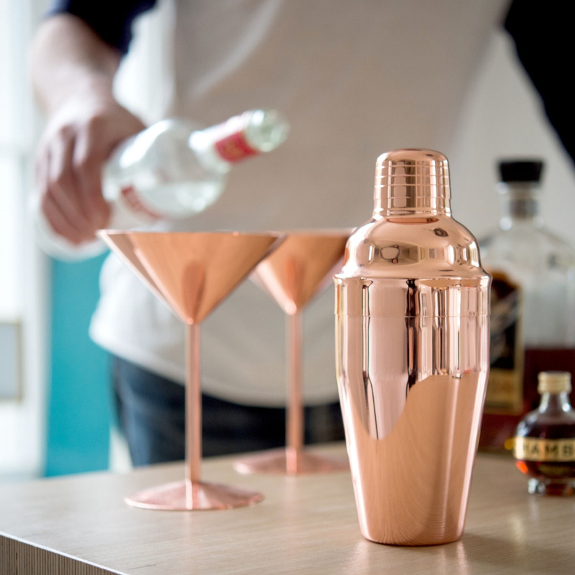 Rose Copper Cocktail Shaker - GiftSpider.co.uk